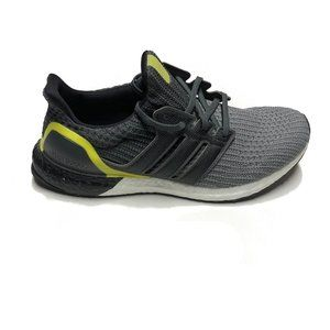 adidas Ultraboost Grey Black Yellow Mens Shoes